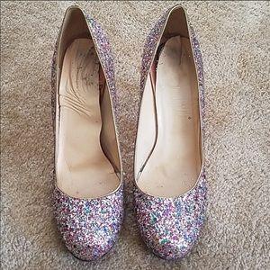 KATE SPADE NY Licorice Too Heels Multi Glitter 9.5